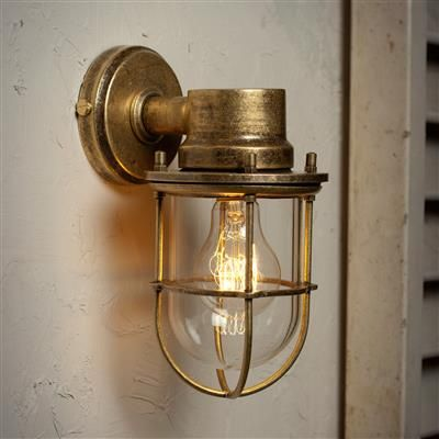 Wall mounted ships light in antiqued brass wall mount antique brass ships light porch garden lantern outdoor lighting workwithnaturefo