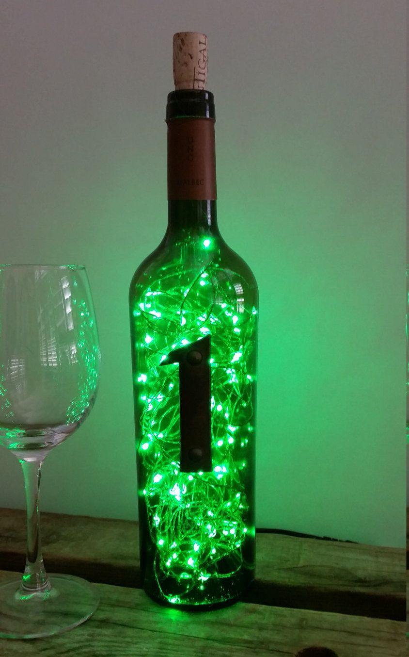 Fairy lights starry led lamp number 1 wine bottle lamp for Green wine bottles