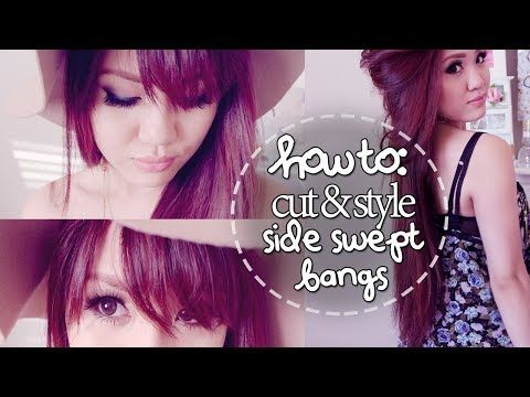 How To Cut Style Side Swept Bangs At Home Youtube Career