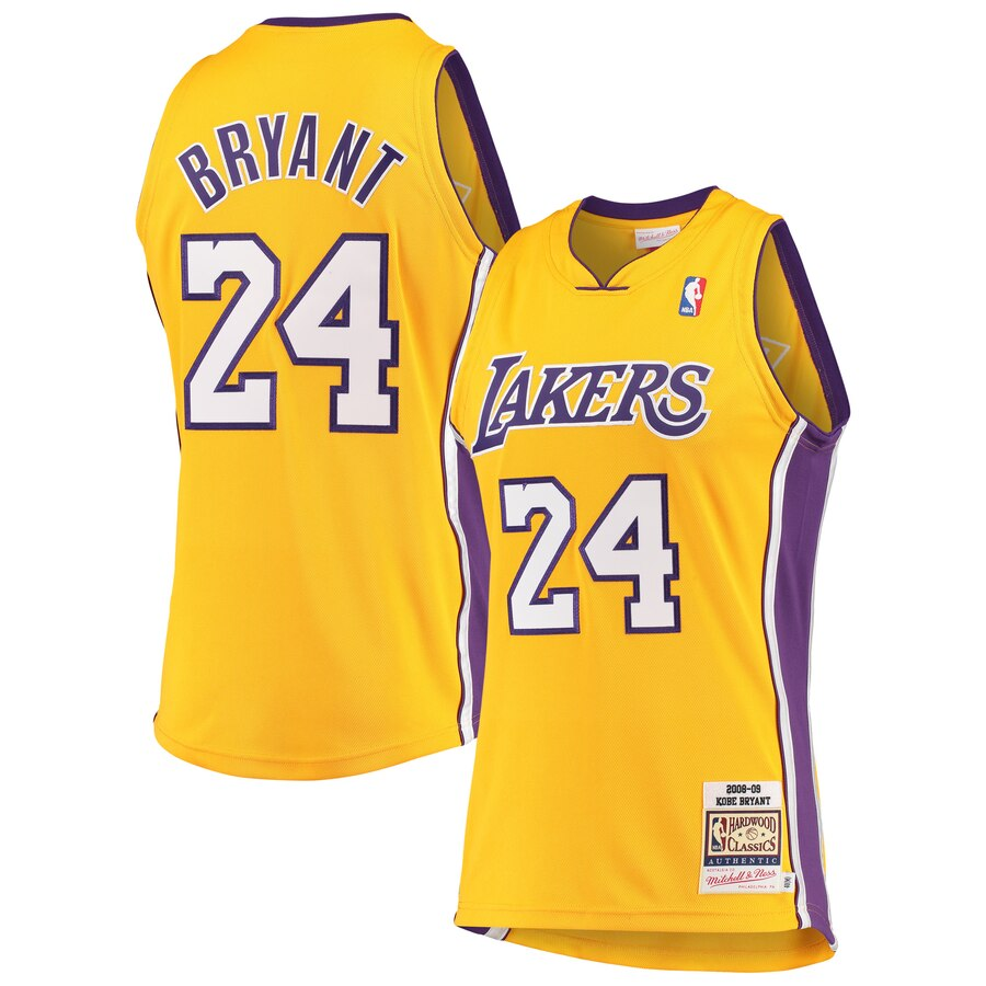 Men S Los Angeles Lakers Kobe Bryant Mitchell Ness Gold Hardwood Classics 2008 09 Authentic Jersey In 2020 Kobe Bryant Lakers Kobe Bryant Lakers Kobe
