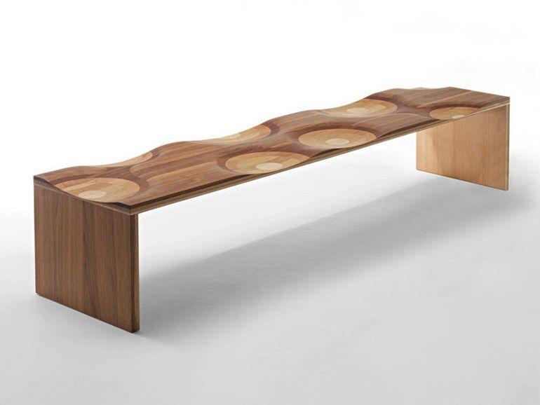 ripples bench decor solid wood bench designs timber wood rh pinterest com