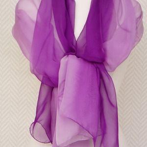 643d91147ad Echarpe étole paréo foulard mousseline soie