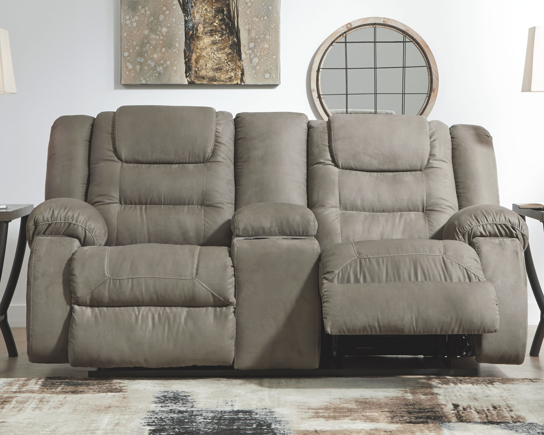 Segburg Reclining Loveseat With Console Cobblestone Love Seat Recliner Reclining Sofa