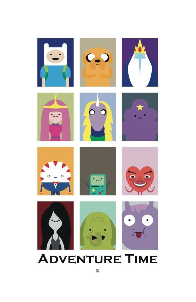Apocalypse Pow Triptych Jake The Dog And Finn The Human Adventure Time Poster Adventure Time Adventure Time Wallpaper
