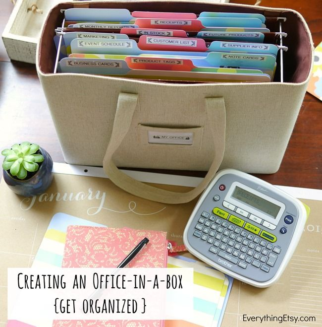Creating An Office In A Box Get Organized Everything Etsy