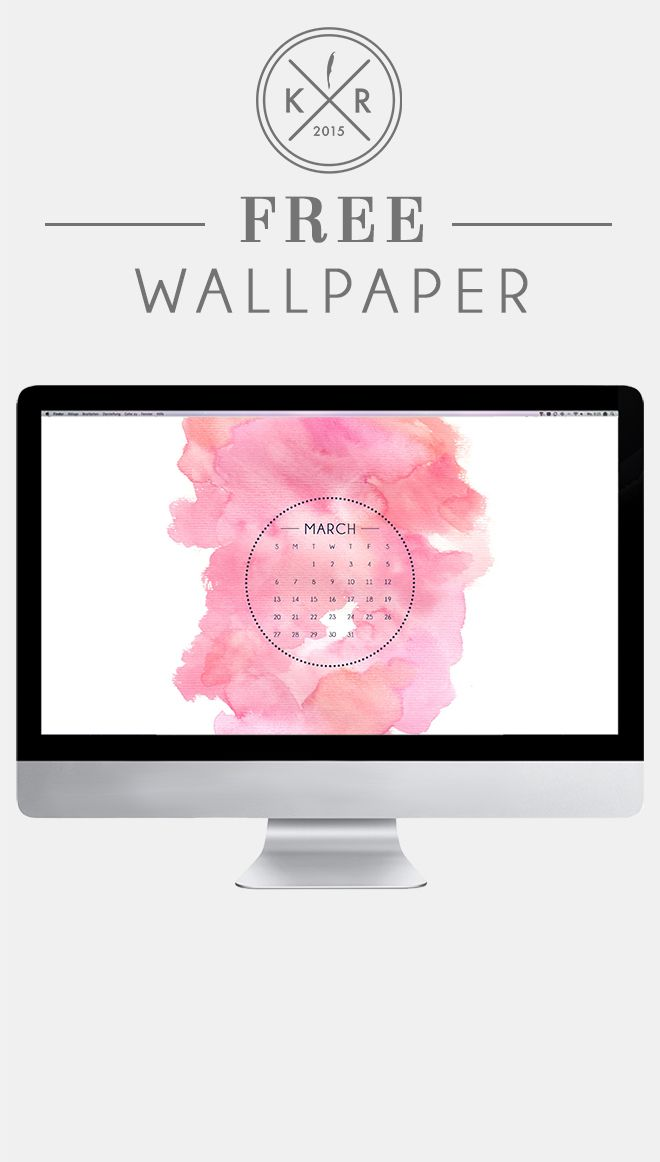 Calendar Wallpaper Originals : Pink and white watercolor wallpaper desktop for free