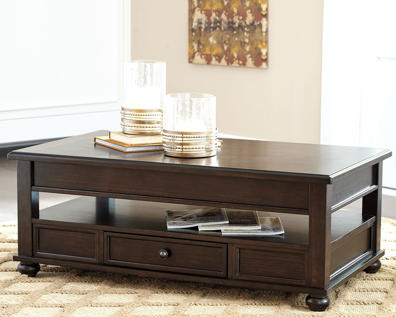 barilanni coffee table with lift top dark brown products lift rh pinterest it