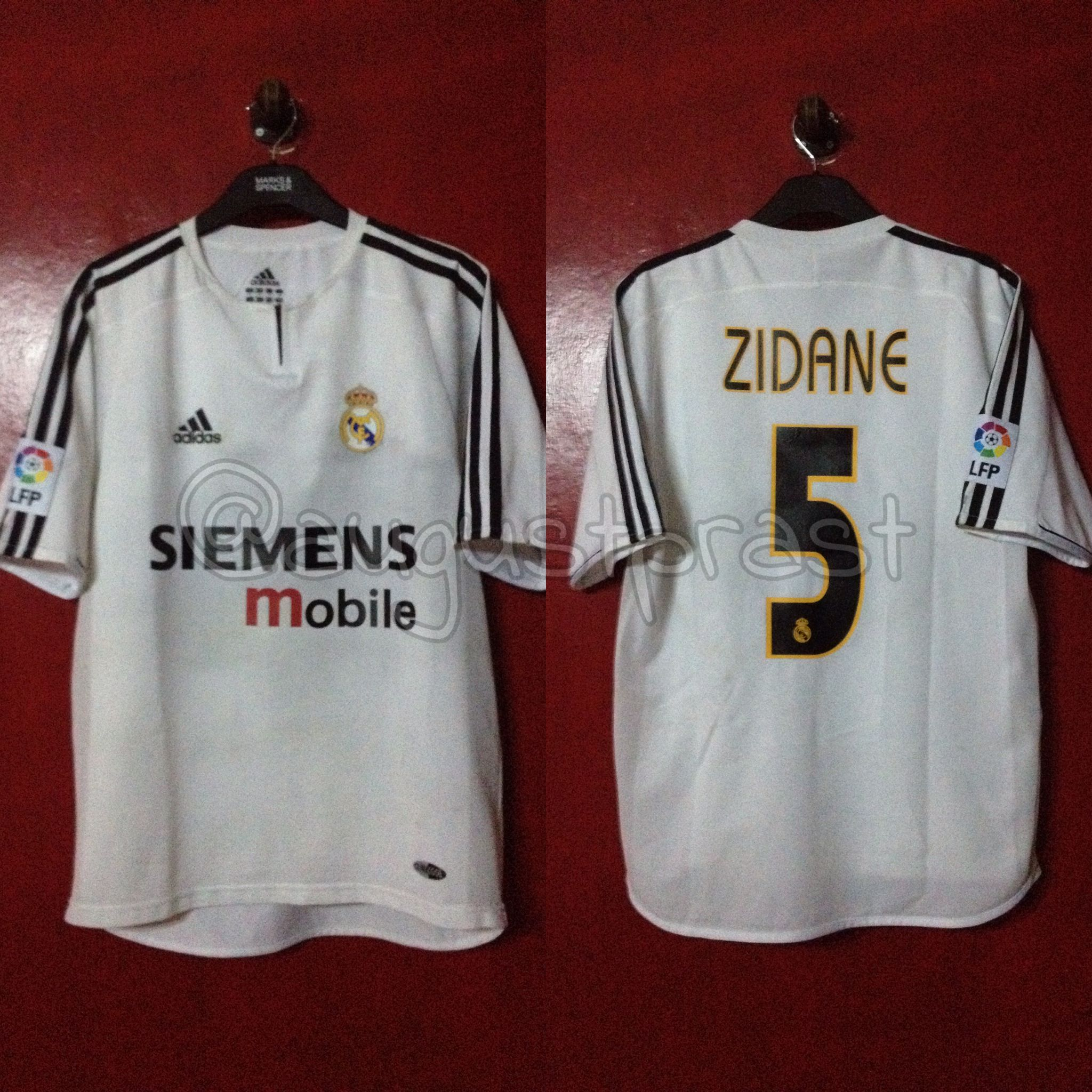 7d13a4734 Real Madrid 2003-2004 Home PI  5 Zidane
