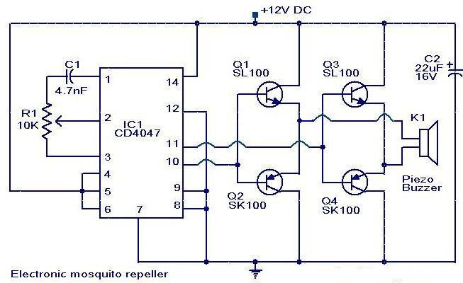 electronic mosquito repeller circuit electronic circuits in 2018 rh pinterest com