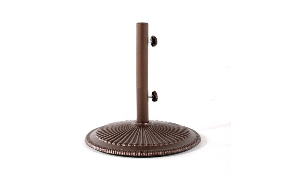 Umbrella Base 50lb Classic Bronze 50lb Weight Free Standing Or Underneath Table Application Powder Coat Finish Cast I Umbrella Bronze Classic
