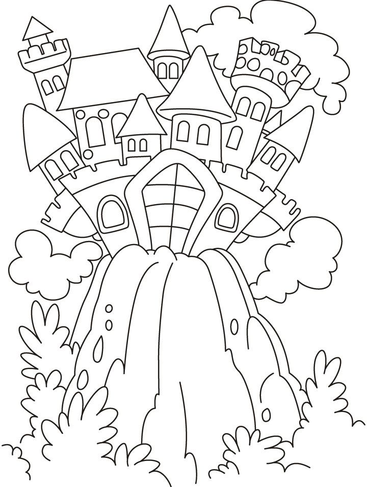 Fairy Castle Coloring Pages Download Free Fairy Castle Coloring