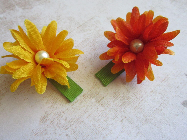 Mini Mums Wivory Swarovski Pearl Hair Clips Set Of 2 Flower Hair
