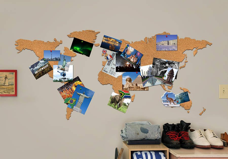 World Map Cork Pinboard Bundle World Map