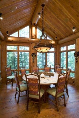 Log Cabin Dining Room Windows minus the log cabin decor ... on
