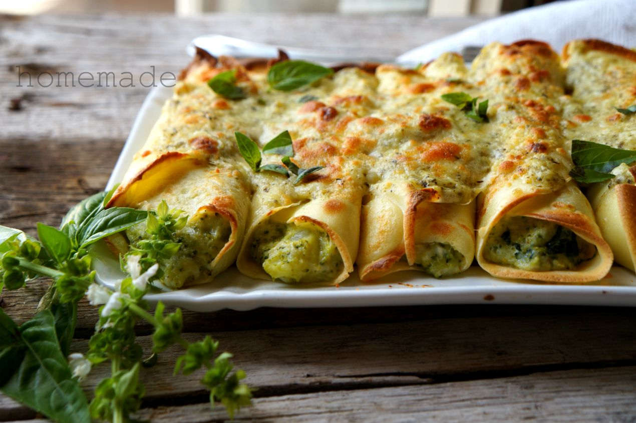 crespelle broccoli e mozzarella