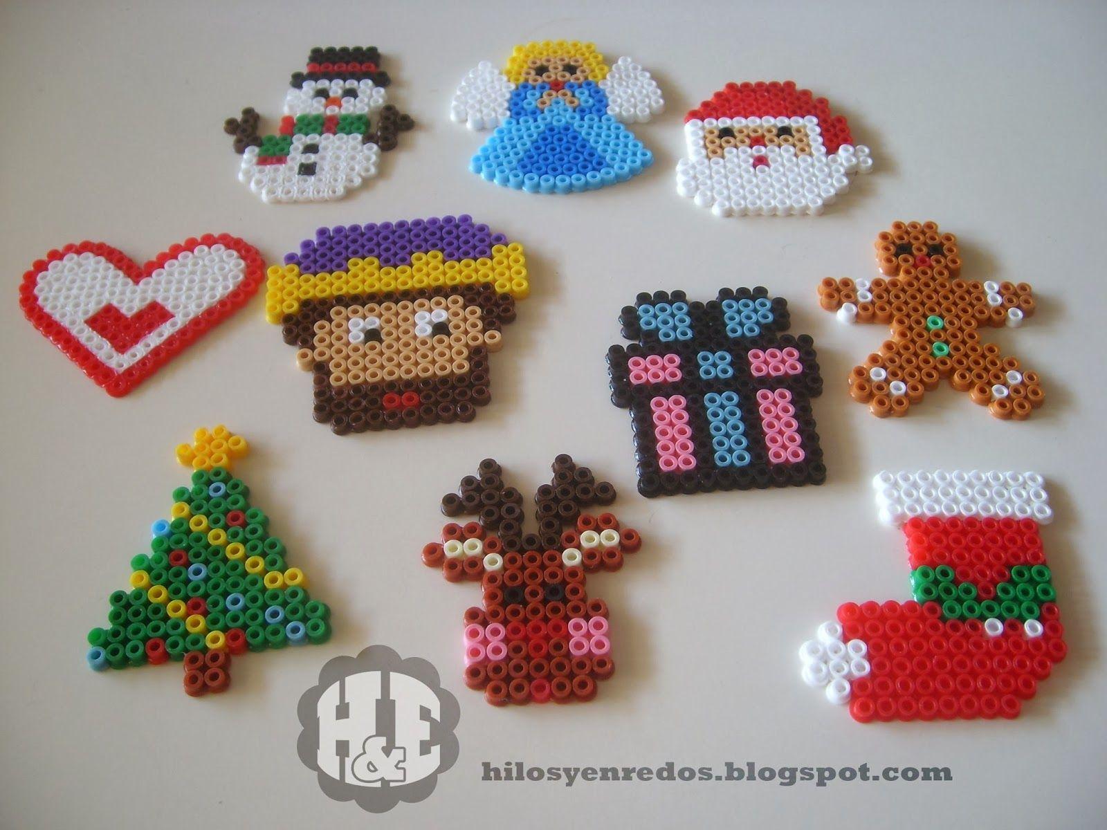#AB2024 Hilos Y Enredos: Pack De Adornos Navideños Con Hama Beads  5547 Decorations Noel Hama 1600x1200 px @ aertt.com