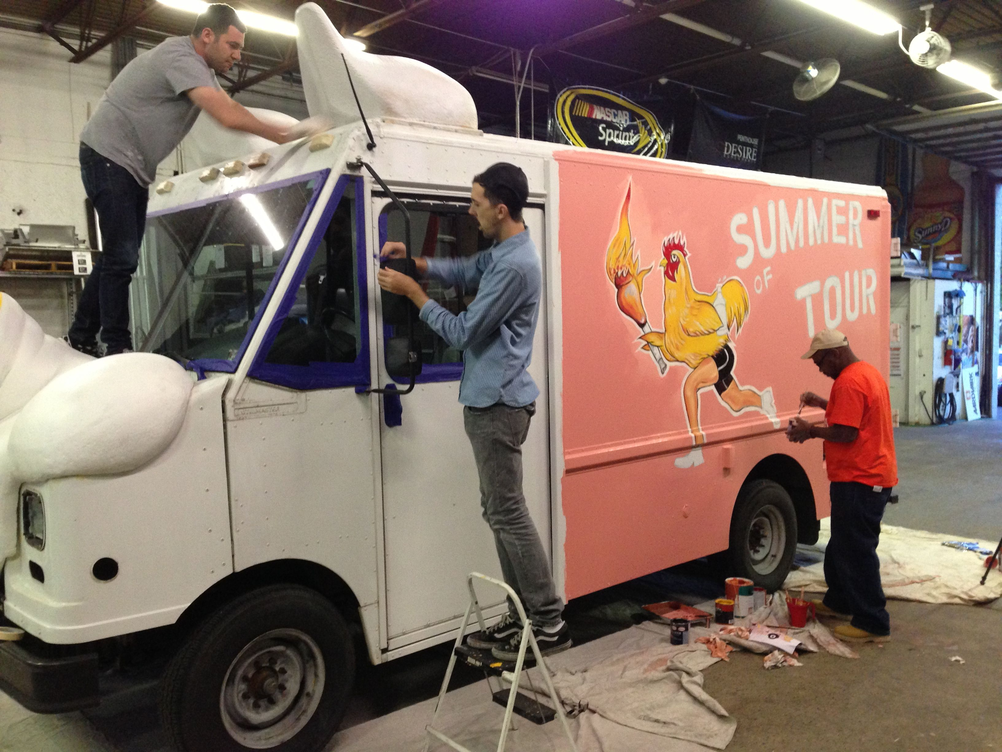 Custom Foam And Hand Painting The Garland Jacks Food Truck By Aardvark Event Logistics