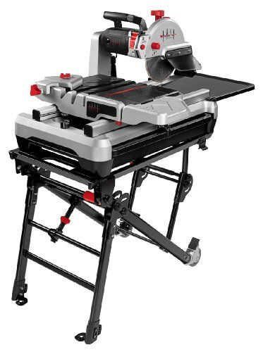 The Lackmond Wts2000l Beast 10 Inch Wet Tile Saw With Laser Worklight And Stand Uses A 15 Amp Motor To Spin The Tile Saw Jet Woodworking Tools Woodworking Saws