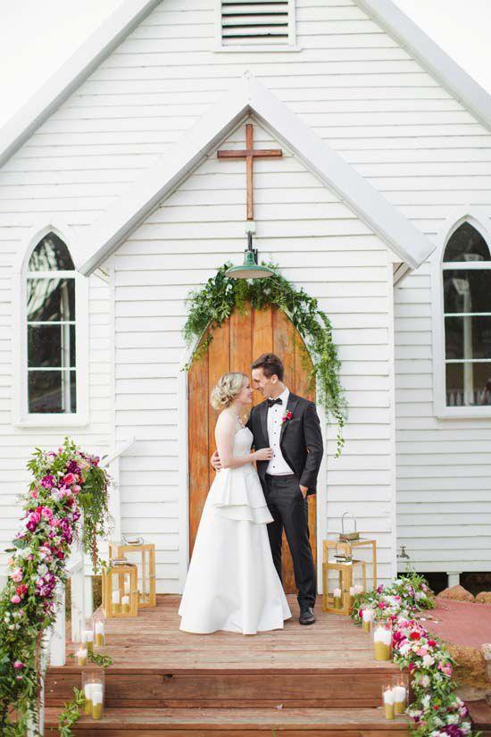 Australian Country Church Wedding Inspiration White Country