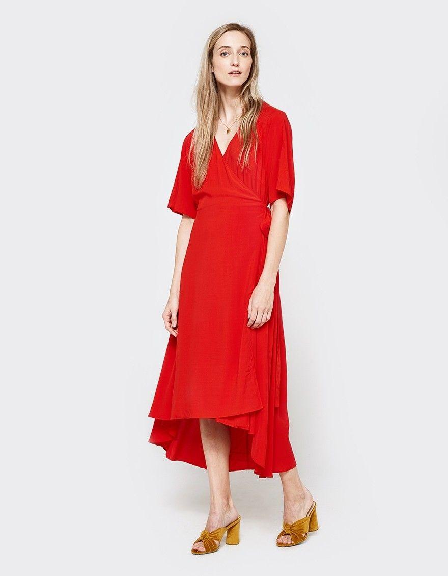 Just Female Tan Wrap Dress Womens Trendy Dresses Wrap Dress Dresses [ 1130 x 880 Pixel ]