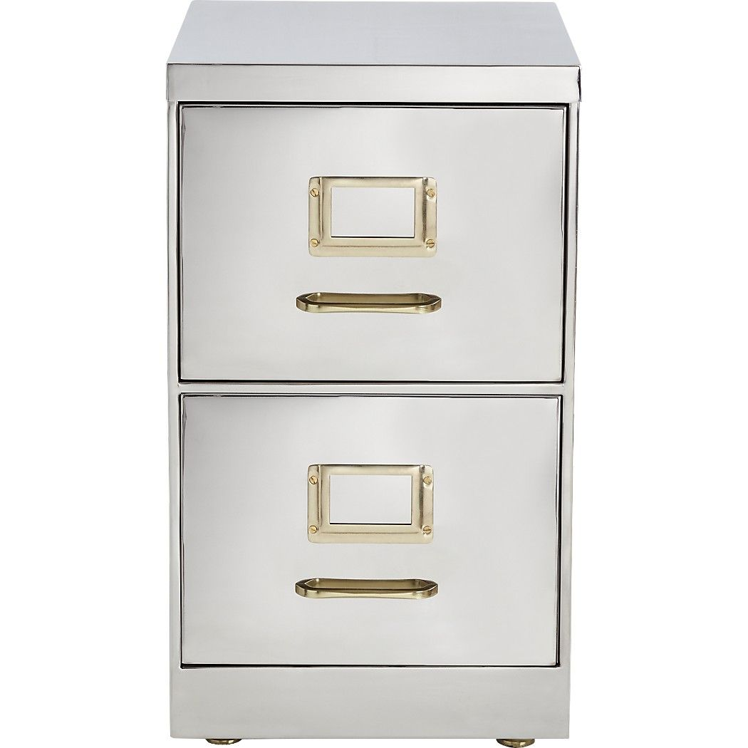 Shop Small Stainless Steel File Cabinet File Away The Notion That Office Furniture Can T Be Fancy Hand Polished Filing Cabinet Steel File Modern File Cabinet