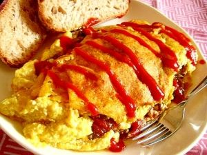 「ヘルシーなヴィーガンオムレツ★」卵なし!とってもヘルシーで美味しく大満足の豆腐のヴィーガンオムレツ!あっさりしているのにコクがある!とろとろ・ふわふわでほんとの卵のようですよ☆【楽天レシピ】
