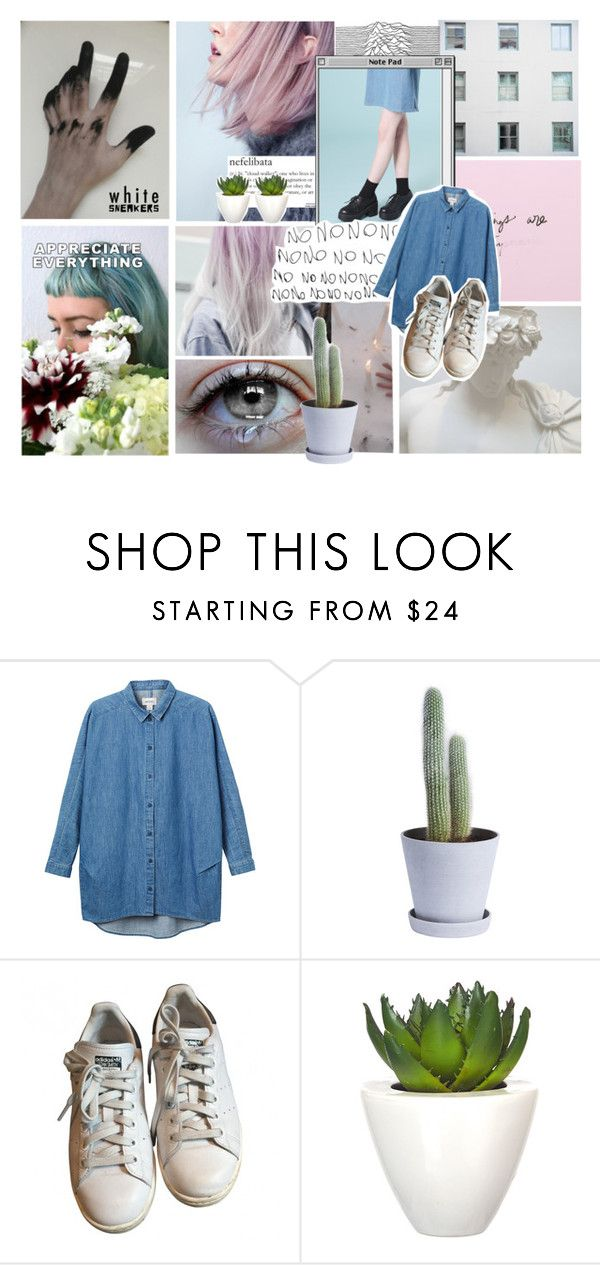 """Sem título #109"" by carolinehaze ❤ liked on Polyvore featuring Monki, HAY, adidas and Pomax"
