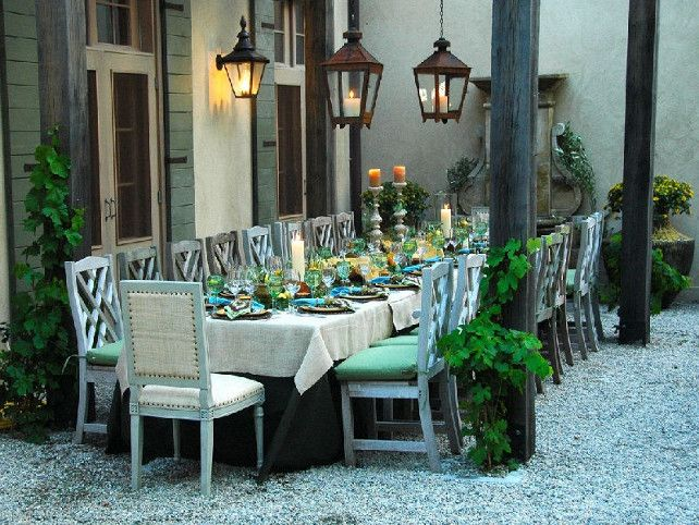 patio #outdoor #dining. fabulous outdoor living french country
