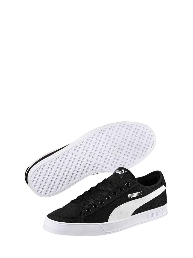 puma black canvas shoes