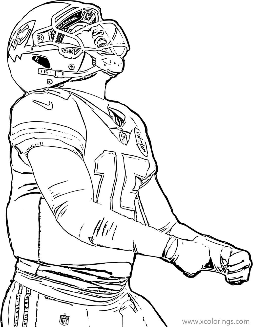 Patrick Mahomes Coloring Pages From Kansas Chiefs In 2020 Kansas Chiefs Coloring Pages Chief