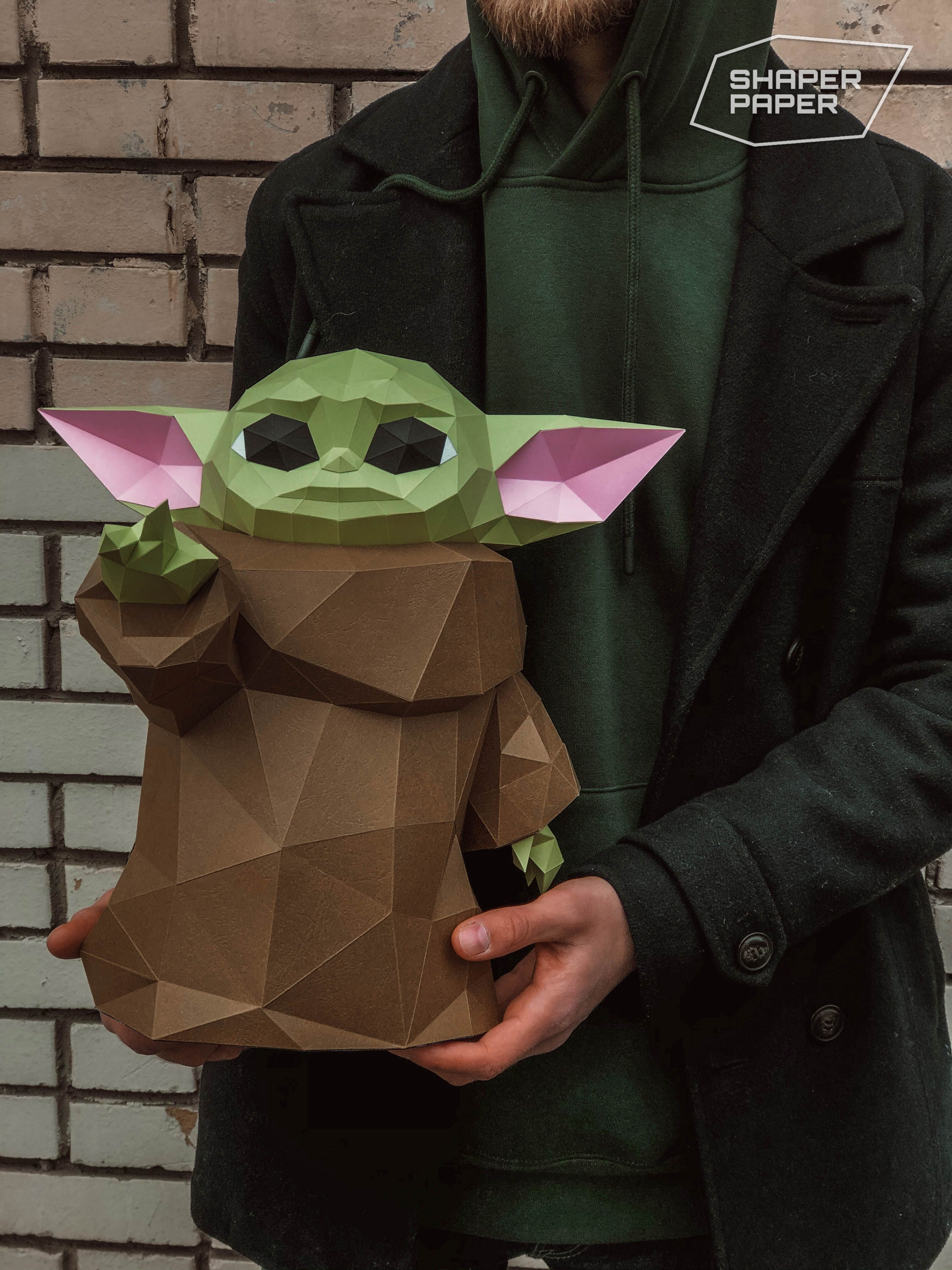 Papercraft Baby Yoda Star Wars template in 2020 Star