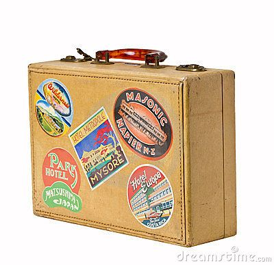vintage luggage |  vintage trunk clipart , vintage suitcase