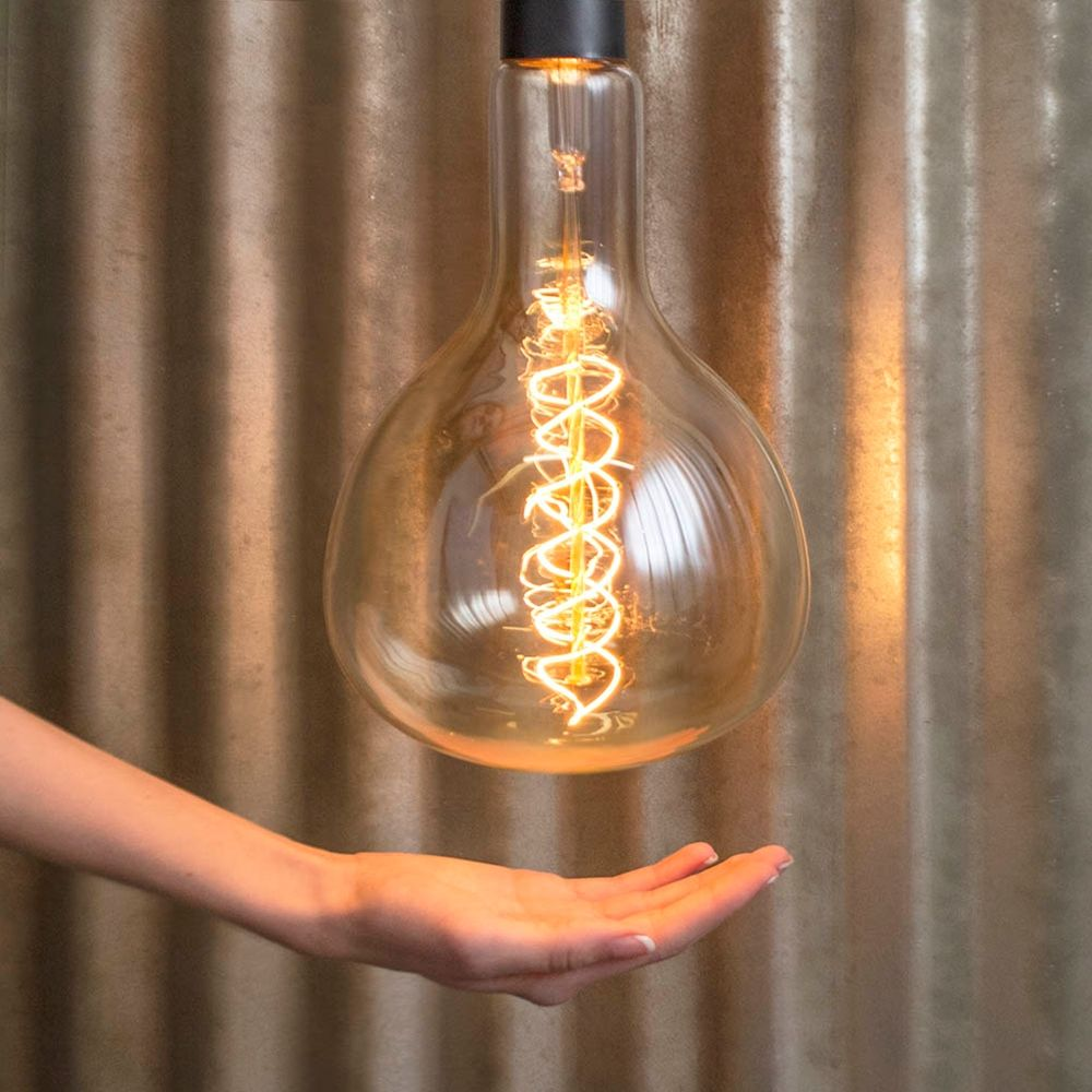 our oversized vintage bulbs easily become a focal point of the room with their grand - Antique Light Bulbs