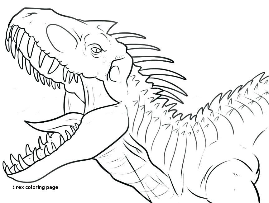 Trex Coloring Page Digital Download Kids Coloring Page Dinosaur