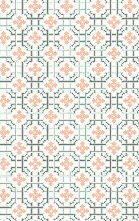 September vintage tile wallpapers