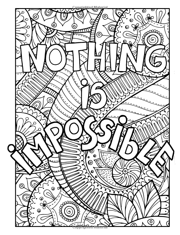 adult coloring book stress relief patterns inspirational words mandalas animals butterflies. Black Bedroom Furniture Sets. Home Design Ideas