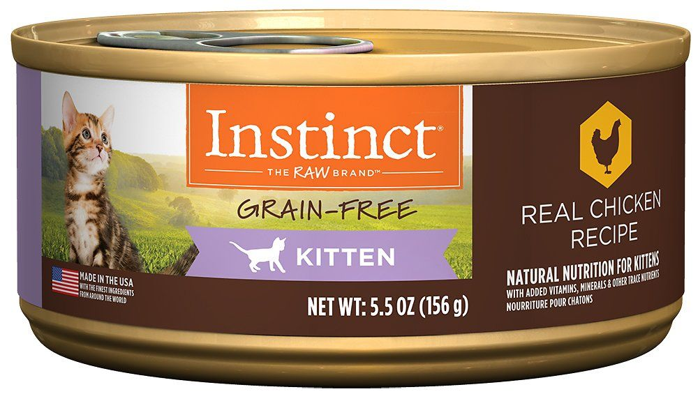 Satisfy Your Pet S Need For Real Food With Instinct By Nature S Variety Kitten Grain Free Real Chicken Recip Canned Cat Food Free Chicken Recipes Free Cat Food