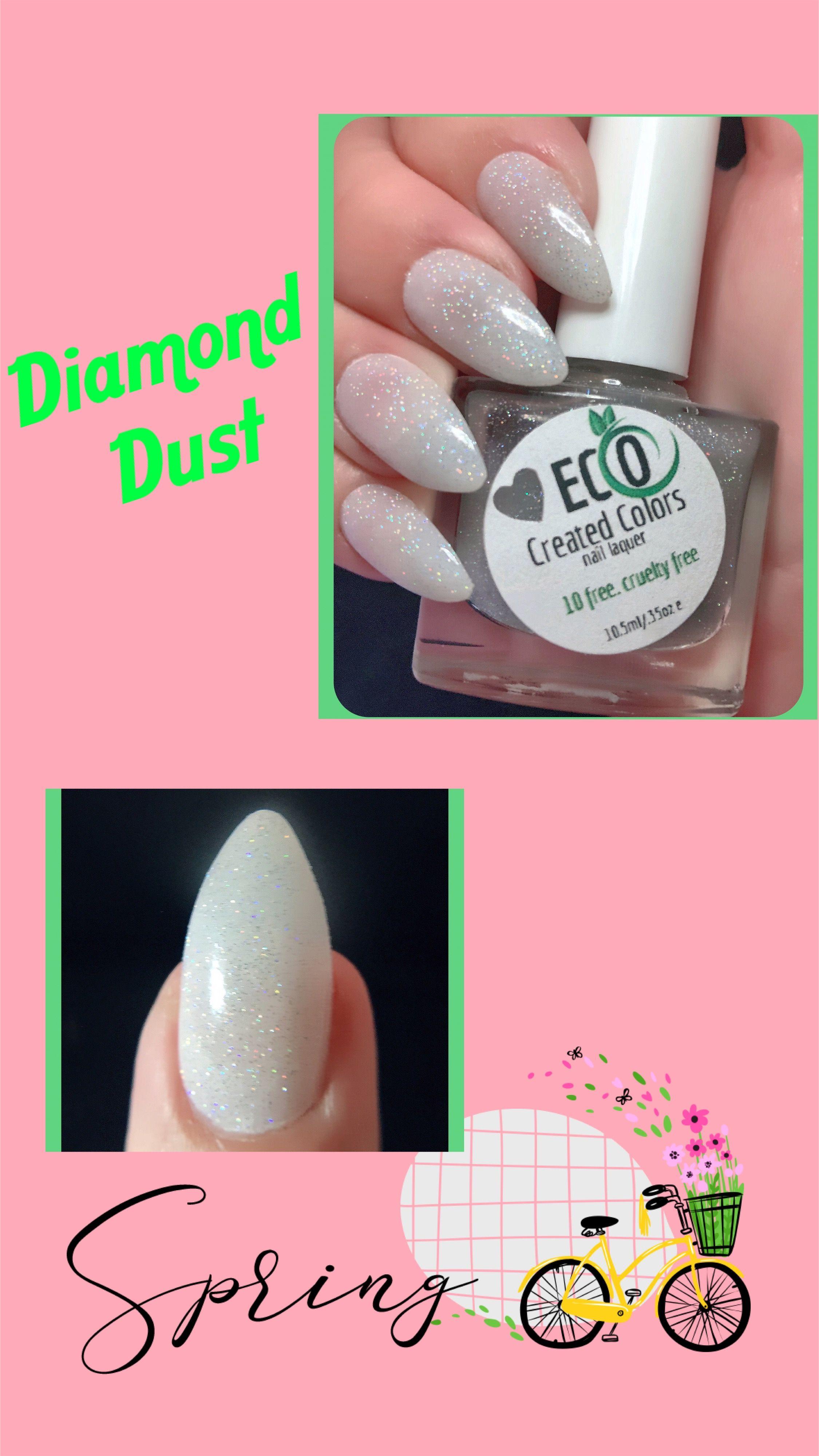 Silver Glitter Nail Polish Natural Wedding Eco 10 Free Nail Polish Vegan Nail Polish Handmade Custom Nail Polish Diamond Dust In 2020 Vegan Nail Polish Nail Polish Free Nail Polish
