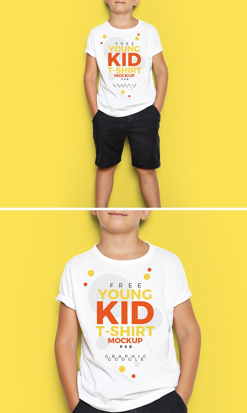 Download Free Young Kid T Shirt Mock Up Psd 700 Tshirt Mockup Kids Tshirts Shirt Mockup
