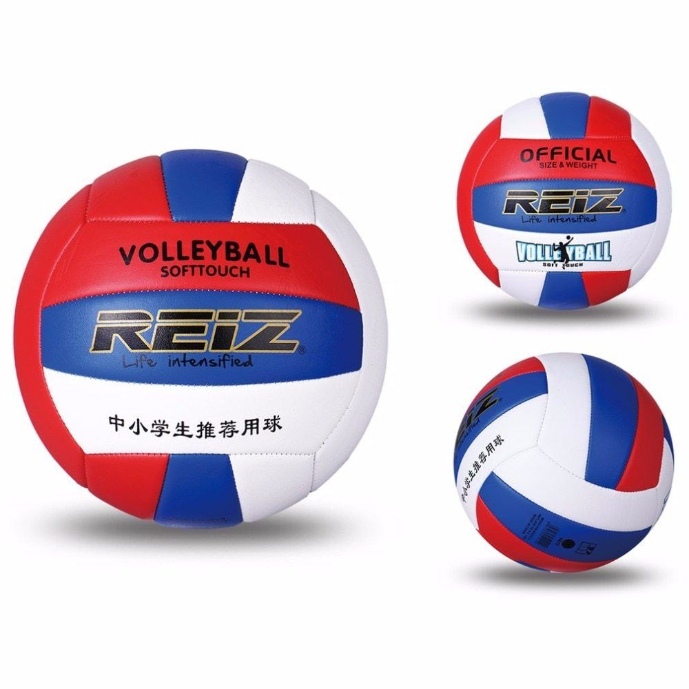 Reiz Professional Soft Pu Volleyball Ball Competition Training Ball Men Women Official Size Weight Soft Touch Volleyball Bal Volleyball Volleyball Designs Ball