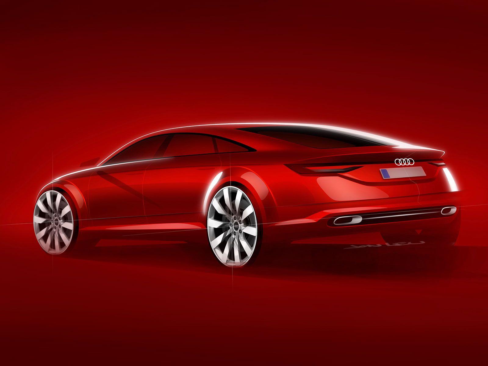 Audi tt sportback concept design sketch concept design sketch dessin voiture voiture ve - Croquis voiture ...