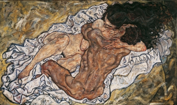 Embrace (Lovers II), 1917, Egon Schiele.  Just look at the movement in the muscles! So wonderful and visceral.