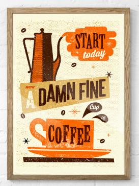 Damn Fine Coffee Print #retro #print