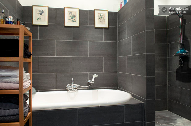 Grey wall tiles need to pitch different floor tiles for shower as