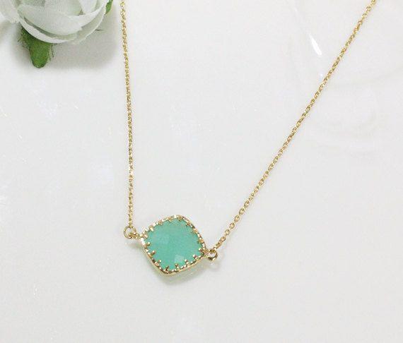 Bridesmaid gifts  Set of 4  Mint diamond crystal by ElliesWedding, $68.00