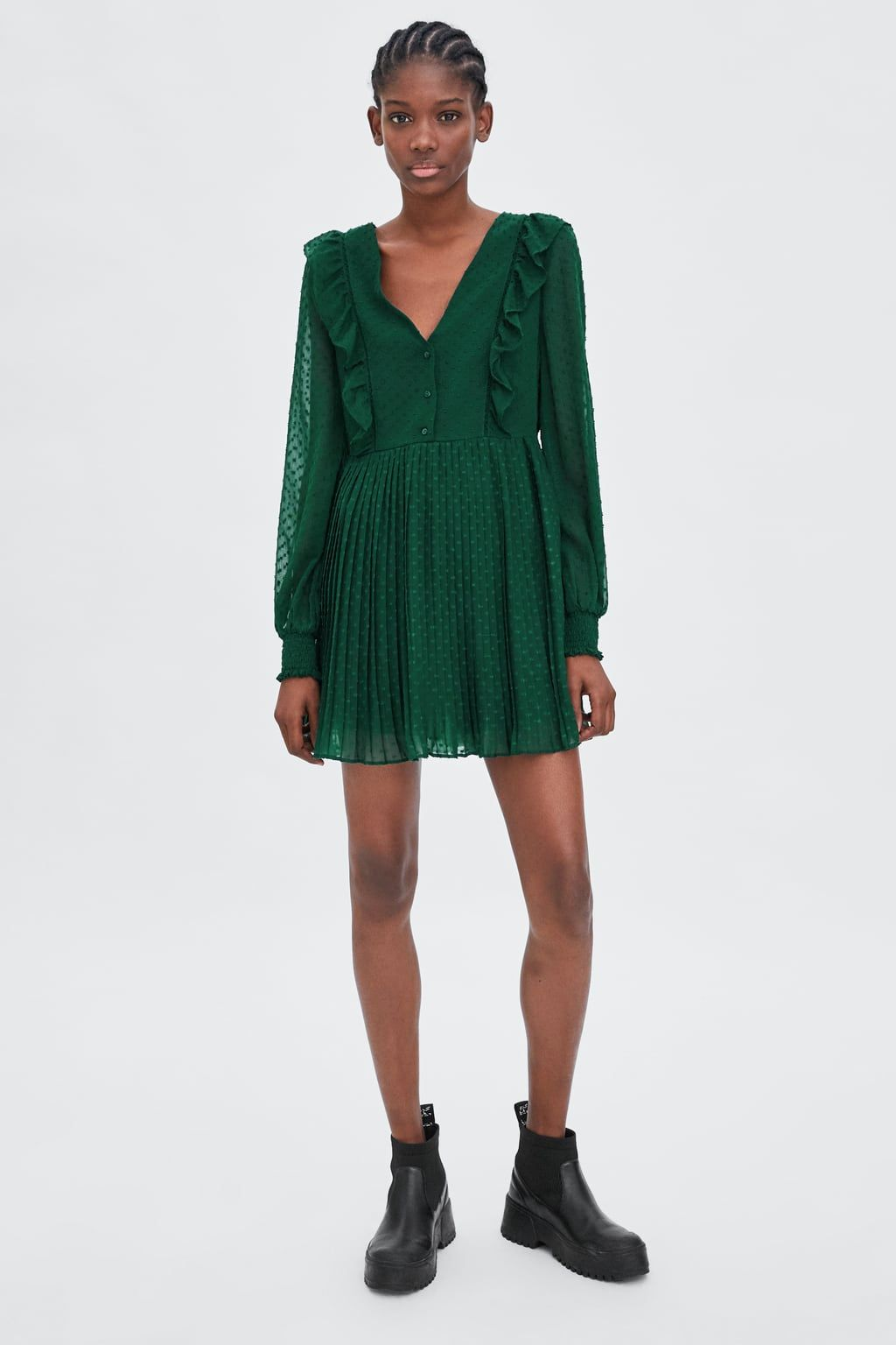 79cf3aaaf1a6f Image 1 of DOTTED MESH JUMPSUIT DRESS from Zara | Zara in 2019 ...