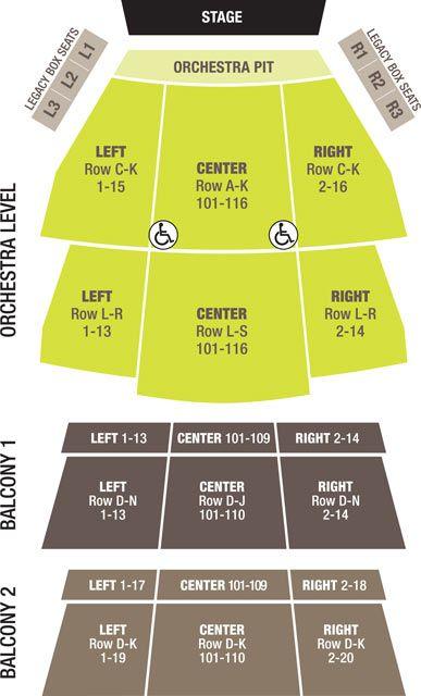 Seating Chart Carolina Theatre - Downtown Durham, North Carolina - seating chart