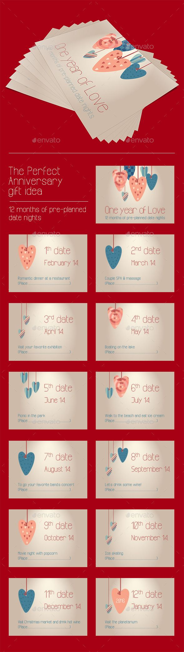 Anniversary Gift Coupon Cards Anniversary gifts, Gift