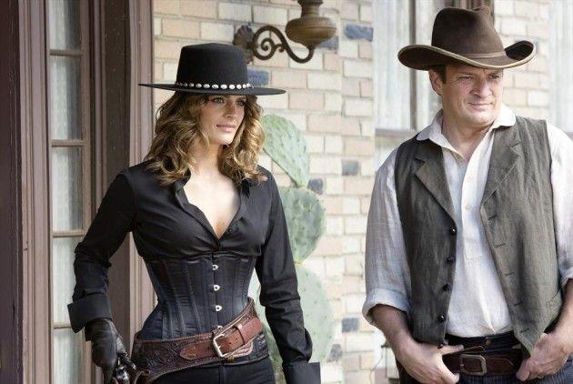 Castle~ Beckett & Castle In Their Cowboy Gear