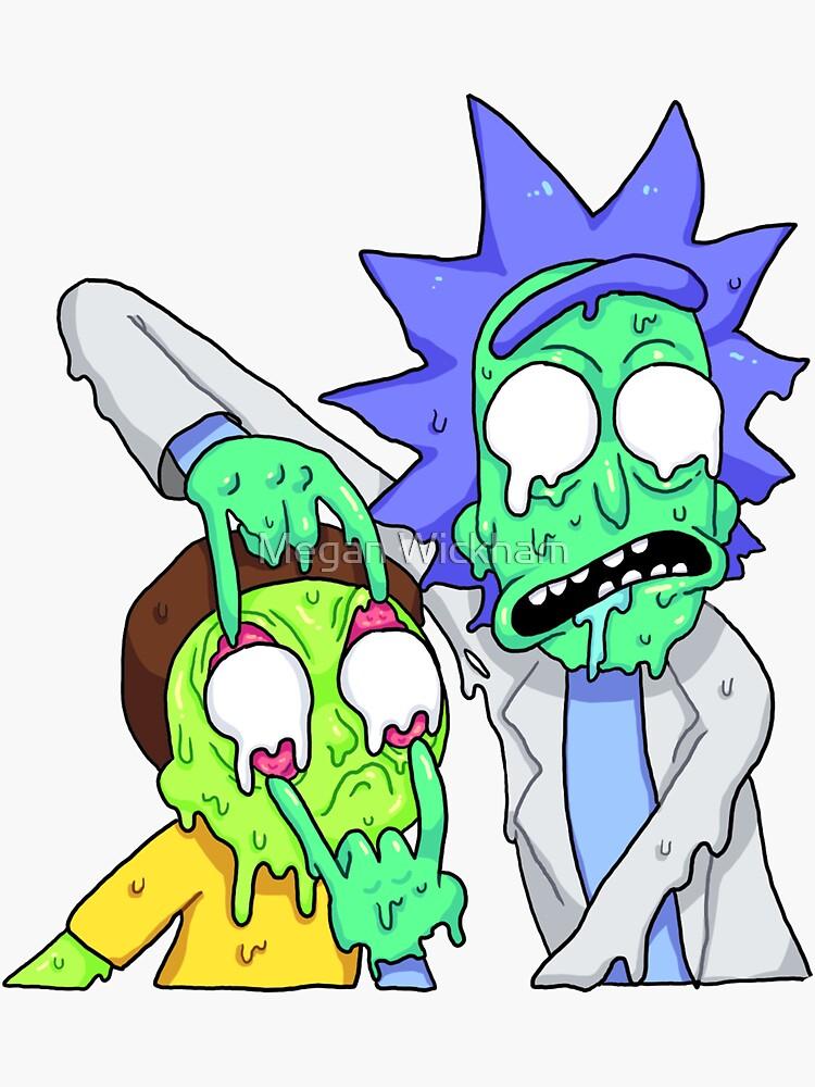Rick And Morty Sticker by Megan Wickham